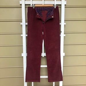 Bonobos 28x32 burgundy Athletic Boot corduroy pant